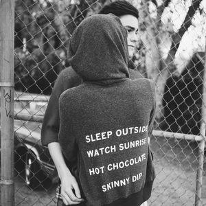 Wildfox sleep outside track suit hoodie jacket